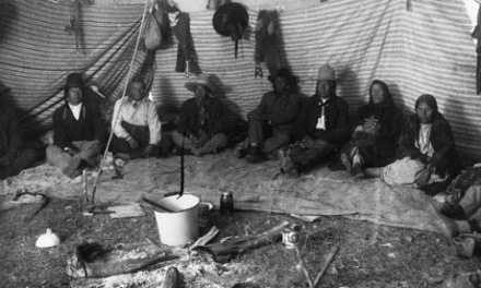 Interior of Native American Tepee